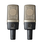 AKG C314 Matched Pair Stereo Set Professional Multi-Pattern Condenser Microphones