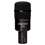 Audix D2 Hyper-Cardioid Dynamic Instrument Microphone