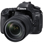 Canon EOS 80D 24.2MP DSLR Camera w/ Canon 18-135mm IS USM Lens