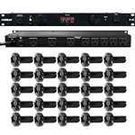 Furman M-8Dx Standard Level Power Conditioning, 15 Amp, 9 Outlets w/ Wall Wart Spacing (Plus 25 Rack Screws)