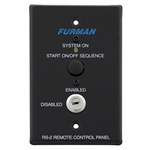 Furman RS-2 Remote System Control of Furman Power Sequencers, Keyswitch Panel, Maintained or Momentary Contact On/Off Sequence