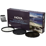 Hoya 55mm Digital Filter Kit II w/ UV HMC, Circular Polarizer and (NDX8) 0.9 Neutral Density
