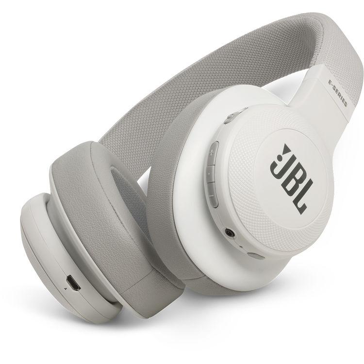 53cf0881e46 JBL E55BT 50mm Drivers Over-Ear Wireless Headphones (White)