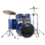 Pearl Drums EXX725/C 5-Piece Export Standard Drum Set with Hardware (Electric Blue Sparkle)