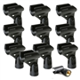 "Shure A25D Microphone Clip for SM58 SM57 & Other 3/4"" (10-Pack)"