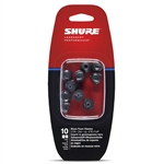 Shure EABKF1-10L Large Foam Sleeves (10 Included/5 Pair) for E3c, E4c, E5c, E500PTH, i3c, i4c & SE Earphones (Black)