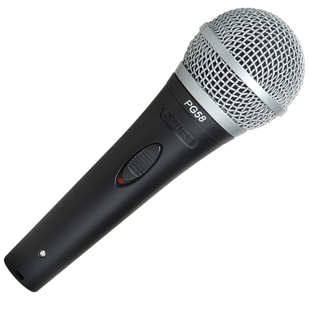 Shure Pg58 Xlr Cardioid Dynamic Vocal Microphone With Xlr To Xlr Cable