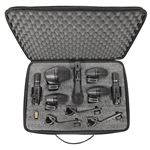 Shure PGADRUMKIT7 7-Piece Drum Mic Kit w/ 1-PGA52, 3-PGA56, 1-PGA57, 2-PGA81, 3-A25D, 3-AP56DM, 7 XLR-XLR Cables and Case
