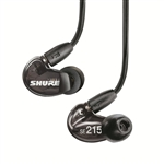 Shure SE215-K Sound Isolating Earphones (Translucent Black)