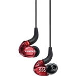 Shure SE535LTD-EFS Limited Edition Triple High-Definition MicroDriver Earphone w/ Detachable Cable (Red)