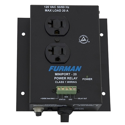 Furman MP-20 Power Relay Accessory, 20 Amp, Two Outlets