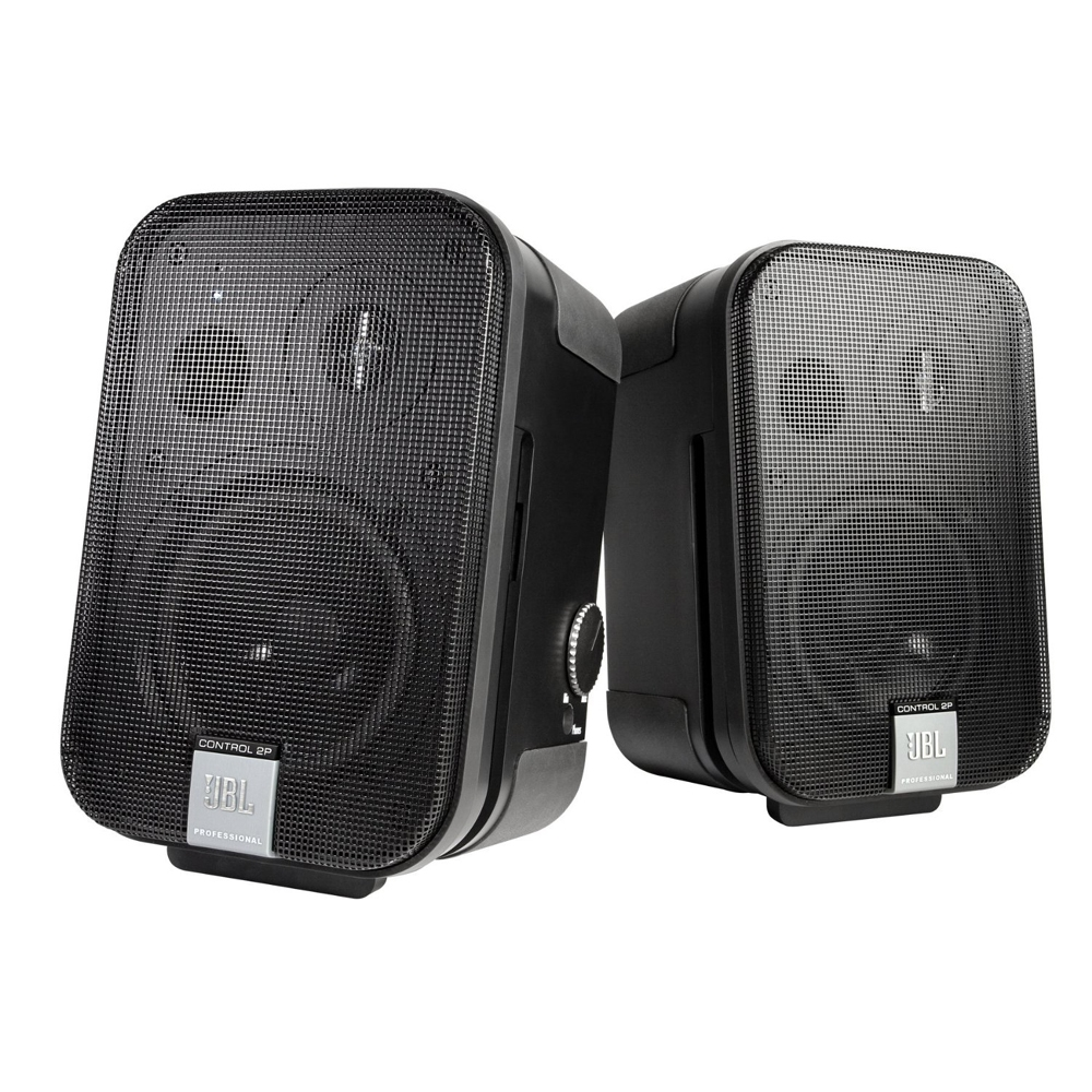 jbl c2ps control 2p compact powered monitor speakers pair. Black Bedroom Furniture Sets. Home Design Ideas