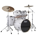 Pearl Drums EXX725/C 5-Piece Export Standard Drum Set with Hardware (Pure White)