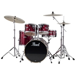 Pearl Drums EXX725/C 5-Piece Export Standard Drum Set with Hardware (Red Wine)